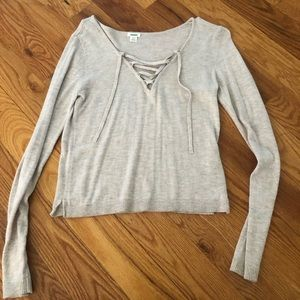 Garage Lace-up Lightweight sweater